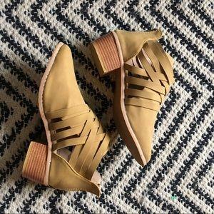 Cutout heel booties